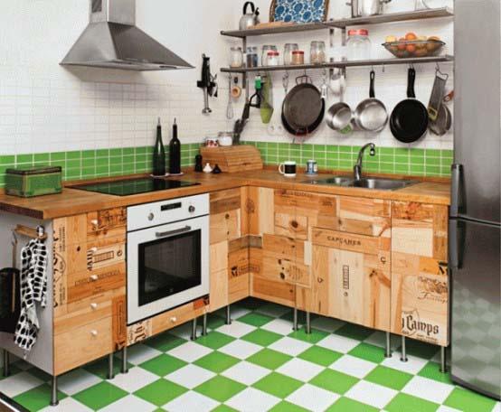 Una cocina reciclada antioquia interiorismo blog for Ants in kitchen cabinets